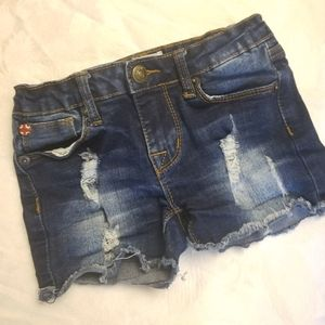 Hudson ripped toddler Jean's girls size 4 (D15)